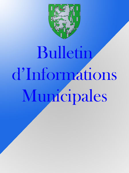 Bulletin d'Informations Municipales